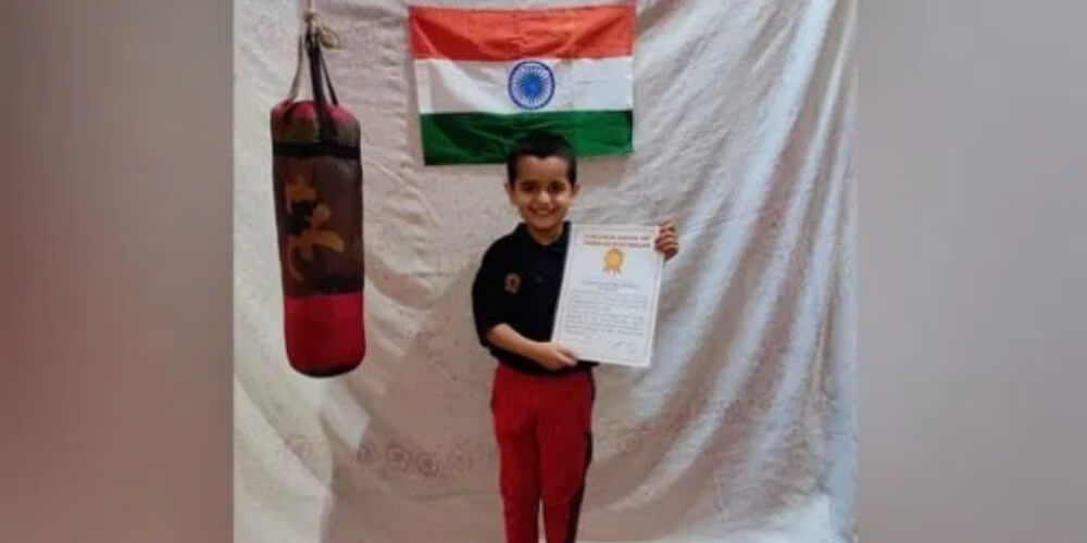 05-year-old Arindam Gaur set World Record for 'Fastest Hundred Boxing Punches'