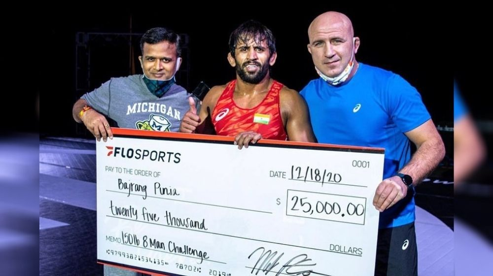 Bajrang Punia made his comeback and claimed the Flo-Wrestling Challenge title