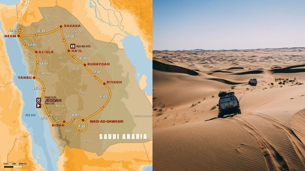 Dakar Rally 2021's route unveiled that will take place in Saudi Arabia
