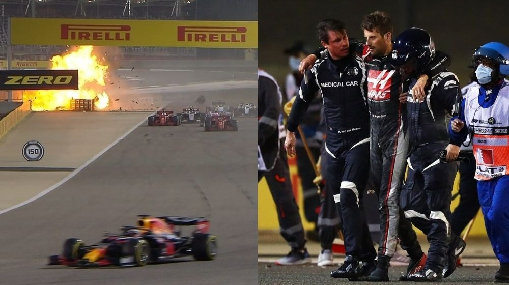 Bahrain Grand Prix 2020: Lewis Hamilton wins, Grosjean survives high-speed crash