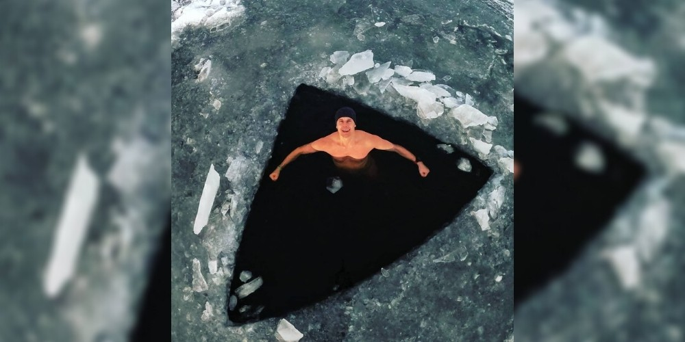 David Vencl sets new world record to swim under ice in a Frozen Lake