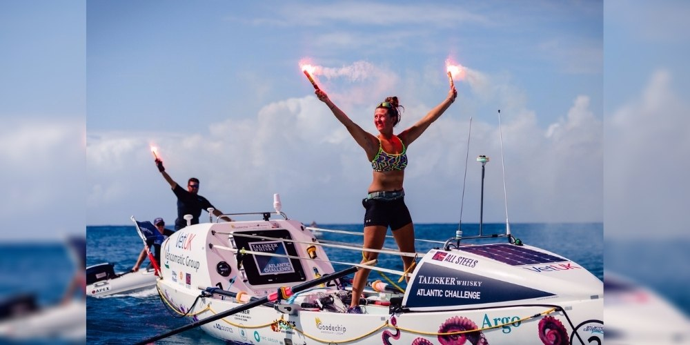 England's Jasmine Harrison becomes youngest woman to row solo across the Atlantic ocean