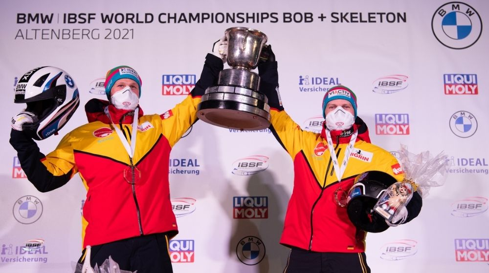 Francesco Friedrich Clinches 7th Straight Two-man World Bobsled Title; Sets New World Record