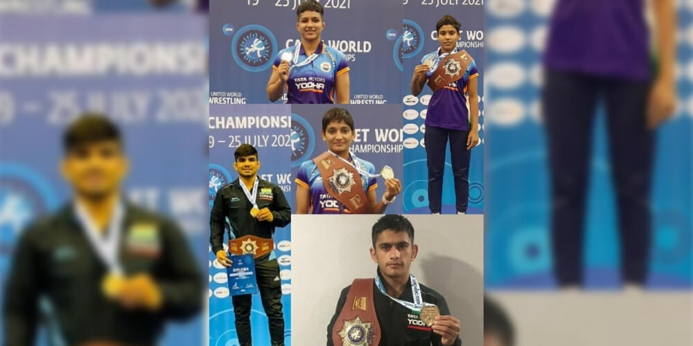 India clinched 5 Gold medals at World Cadet Wrestling Championships