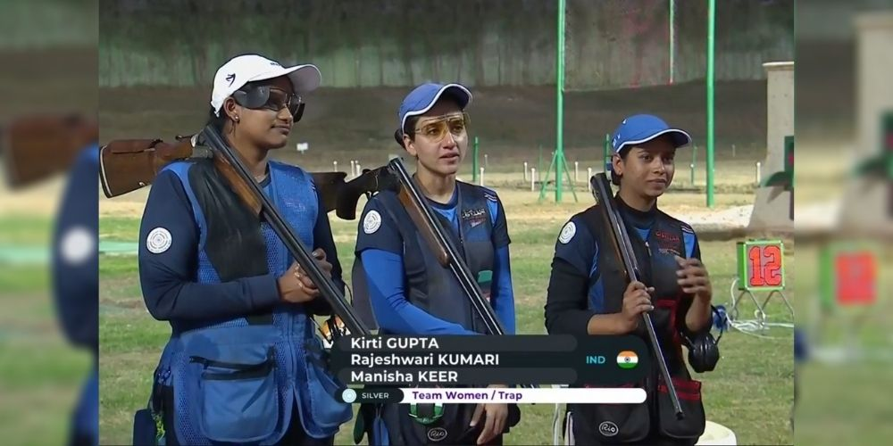 Indian women's trap team claimed silver in ISSF World Cup