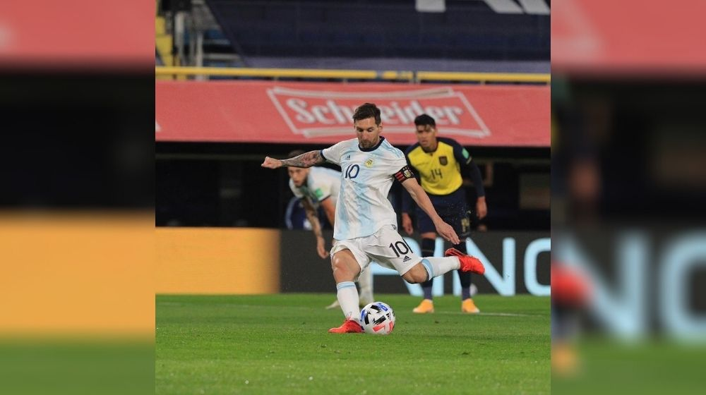 Argentina defeated Ecuador 1-0 in WC Qualifiers with Messi's penalty shot
