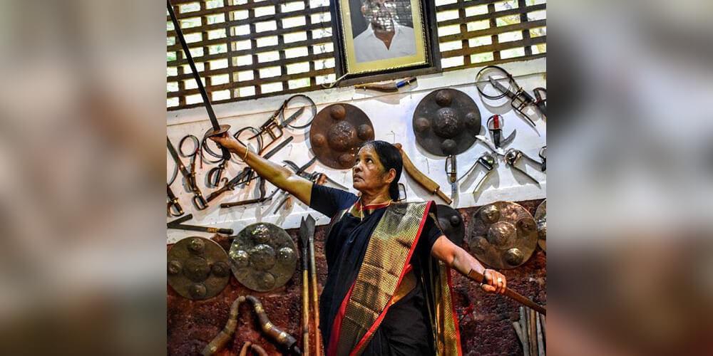 Meenakshi Amma - Granny in her 70s making students masters of Kalaripayattu