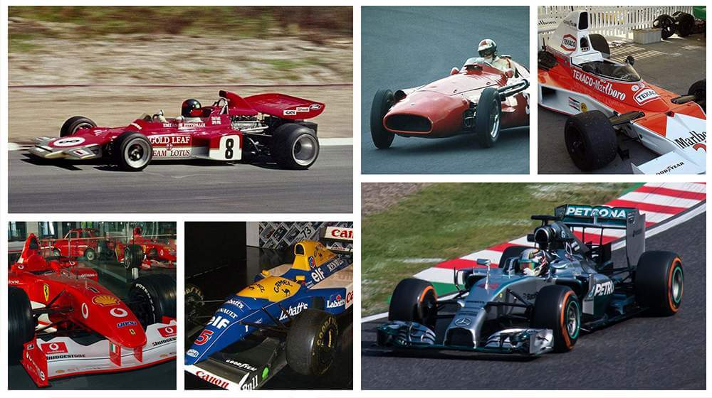 Most Iconic Formula Cars Till Date