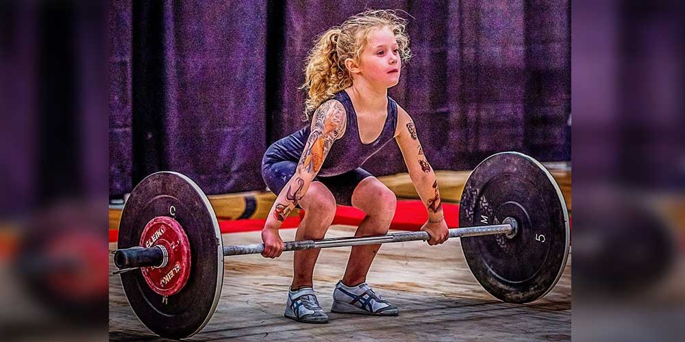 World's strongest 7-Year-Old Girl from Canada who can lift weights of 80 kg