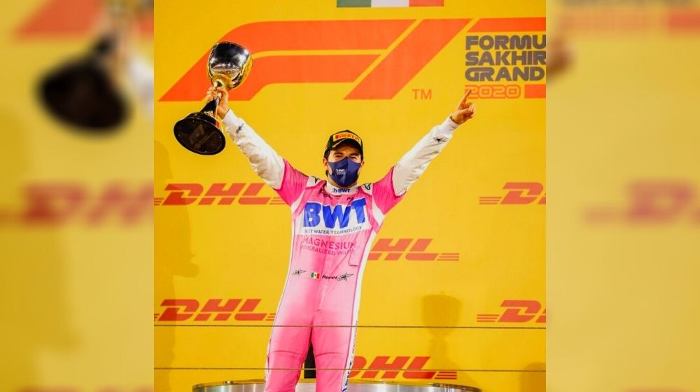 Mexican driver Sergio Perez got his maiden F1 victory at Sakhir Grand Prix