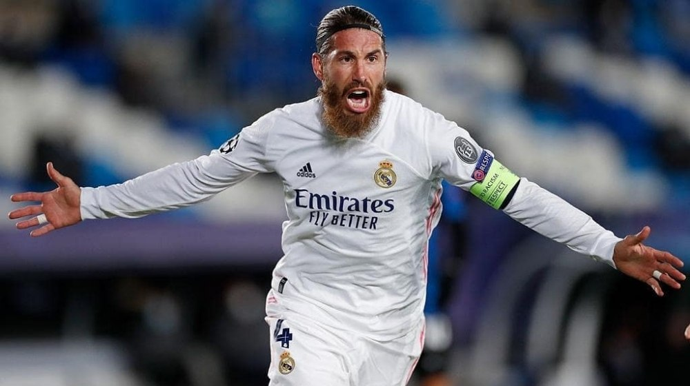Sergio Ramos scored his 100th goal for Real Madrid in Champions League