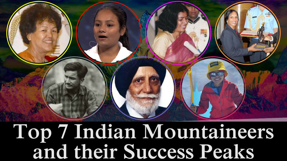 Top 7 Indian Mountaineers and their Success Peaks