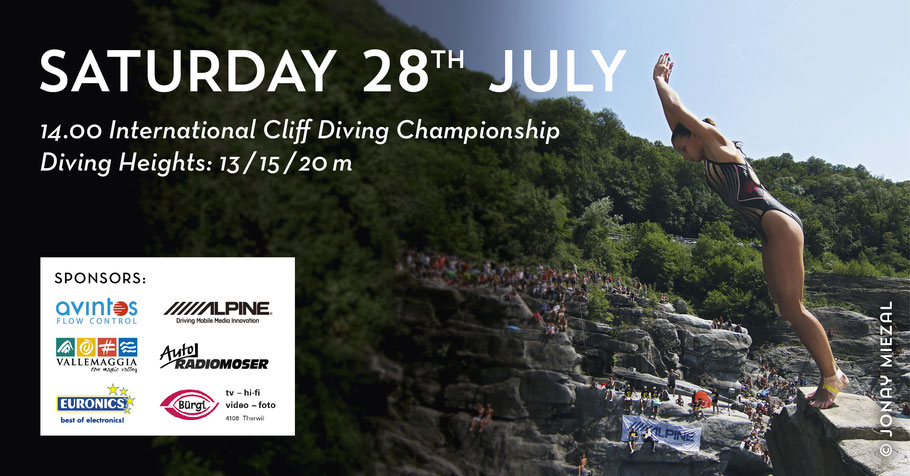 International Cliff Diving Championship in Ponte Brolla - Switzerland