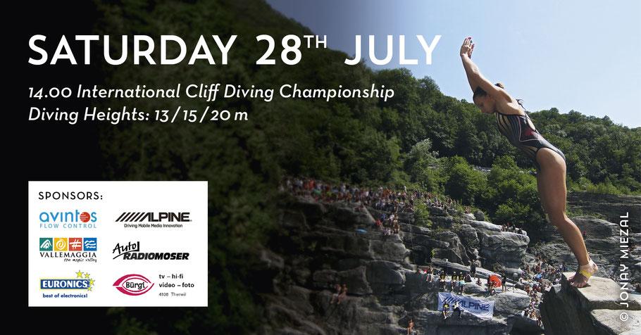 International Cliff Diving Championship in Ponte Brolla - Switzerland