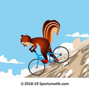 Gillu practicing Mountain Biking