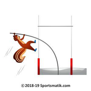 Gillu practicing Pole Vault
