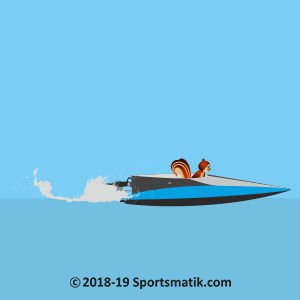 Gillu practicing Powerboat Racing