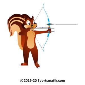 Gillu practicing Archery