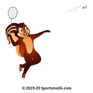 Gillu practicing Badminton