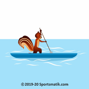Gillu practicing Canoe-Kayak