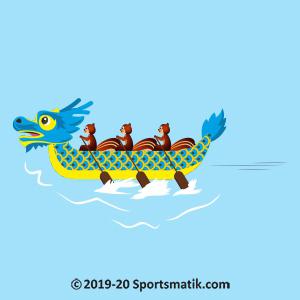 Gillu practicing Dragon Boat Racing