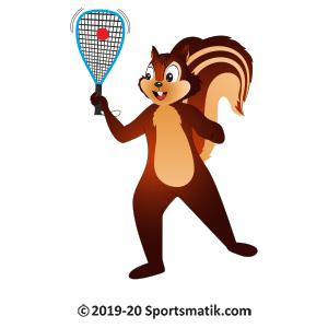 Gillu practicing Racquetball