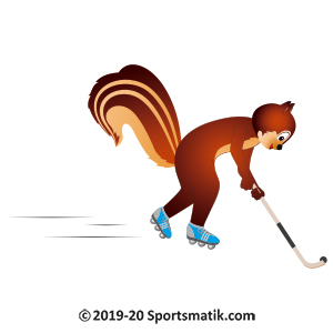 Gillu practicing Roller Hockey