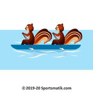 Gillu practicing Rowing