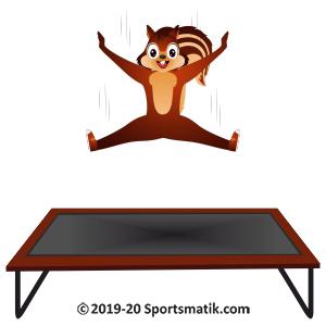 Gillu practicing Trampoline Gymnastics