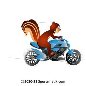 Gillu practicing MotoGP