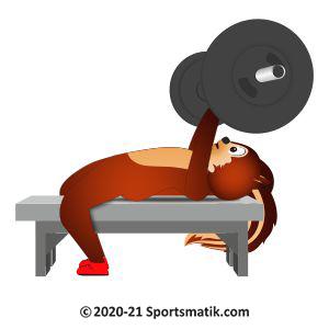 Gillu practicing Powerlifting