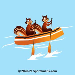 Gillu practicing Rafting