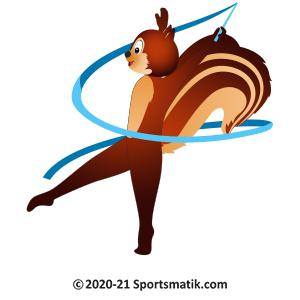 Gillu practicing Rhythmic Gymnastics