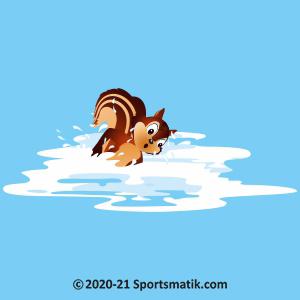 Gillu practicing Swimming