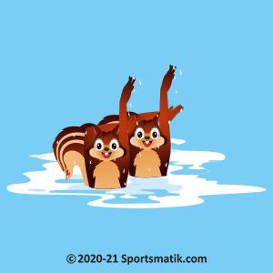 Gillu practicing Synchronized Swimming
