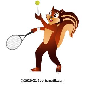 Gillu practicing Tennis