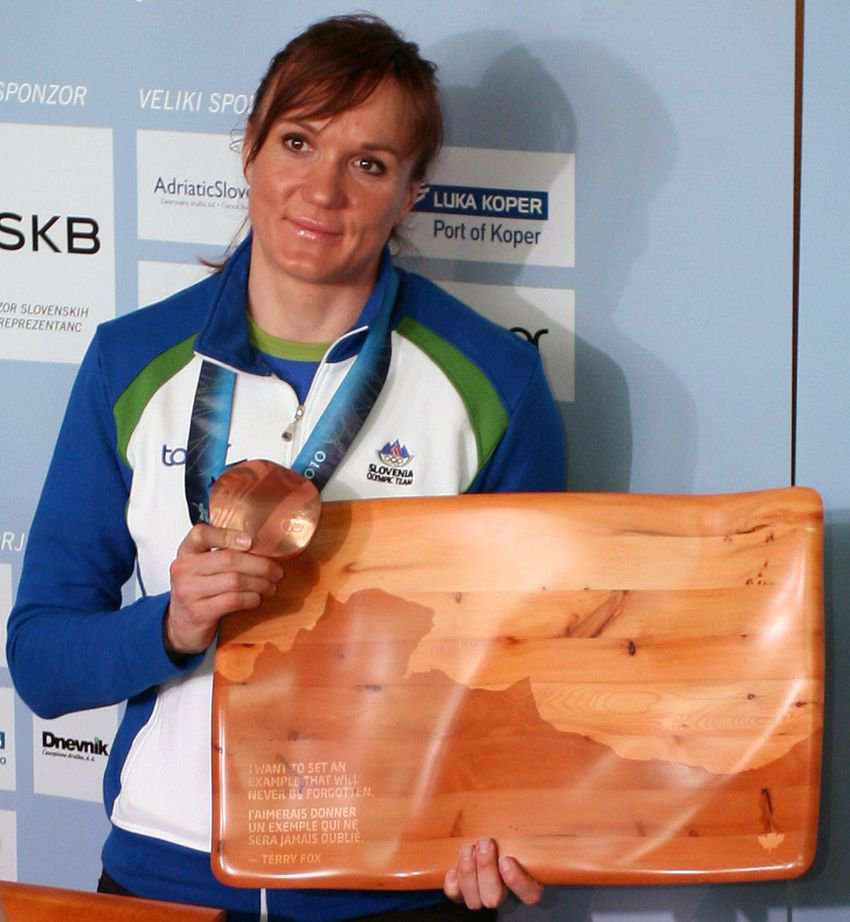 Petra Majdič- Recipient of the 2009 Slovenian Sports Person of the year Award