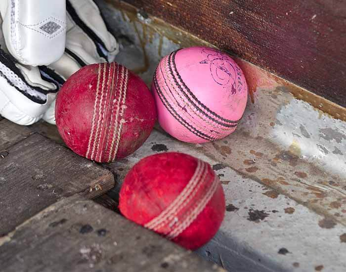 Pink & Red Cricket Balls