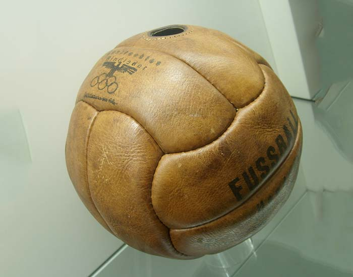 Leather football used during the 1936 Summer Olympics