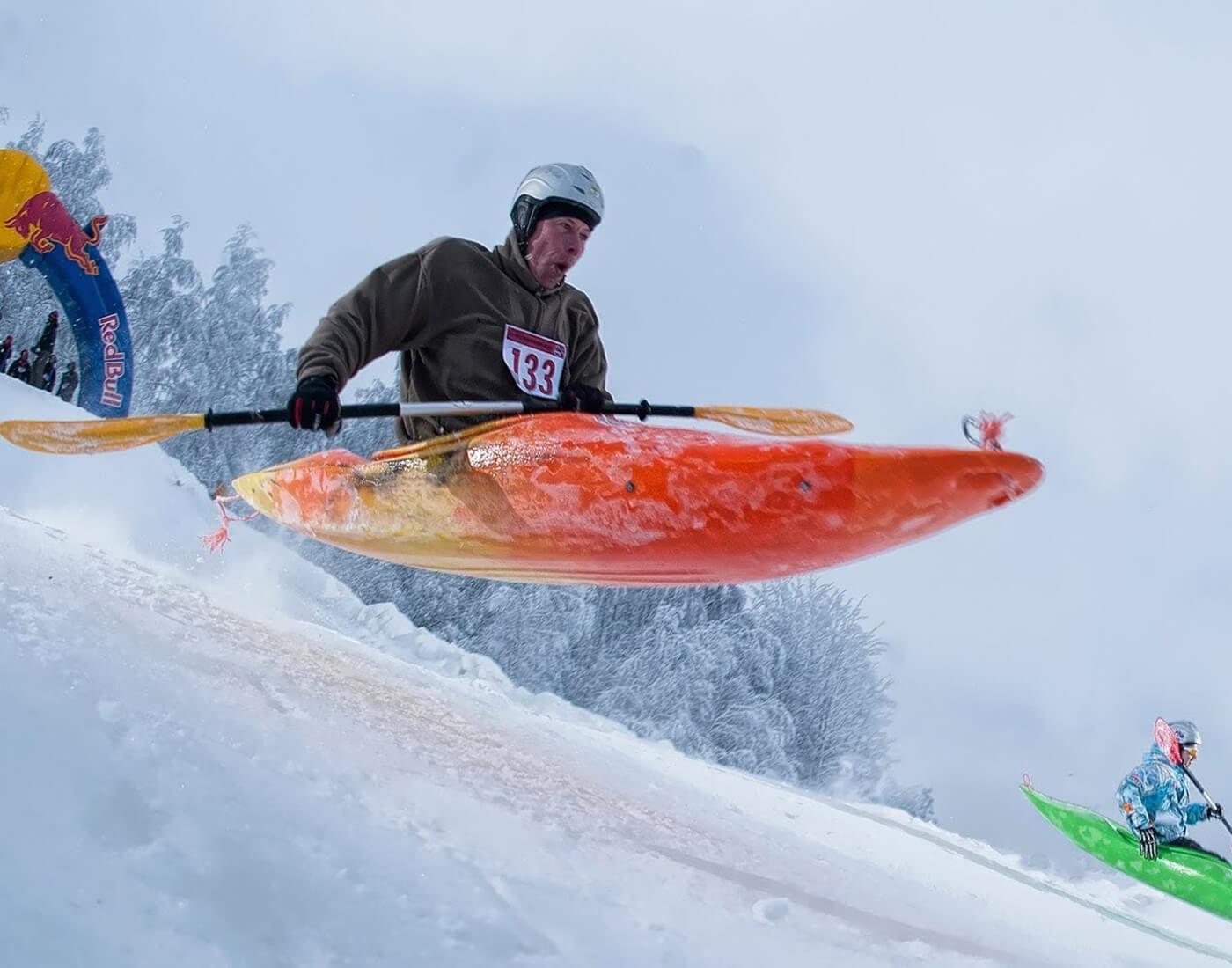Snow Kayaking