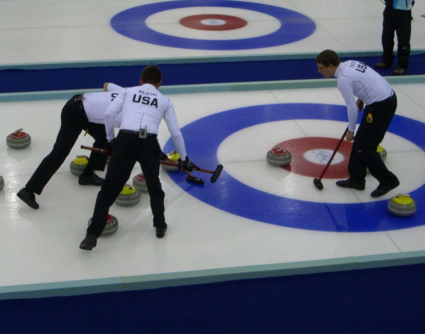 Curling ice sport