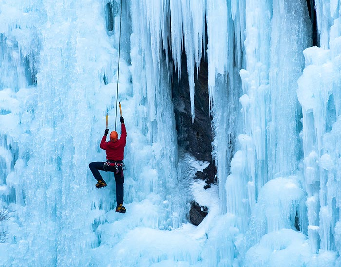 Ice climbing sports