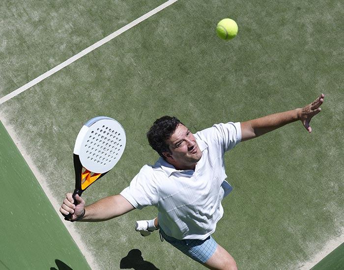 Paddleball racquet sport