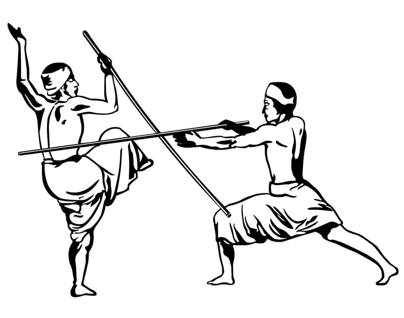 Silambam martial arts