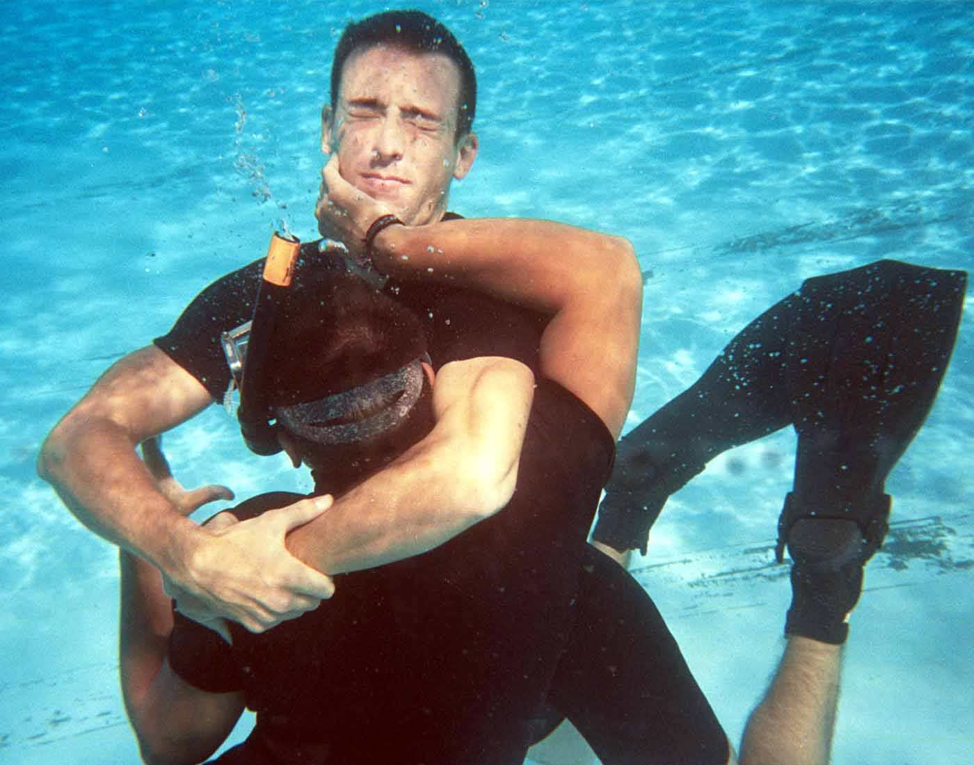 Underwater Wrestling or Aquathlon