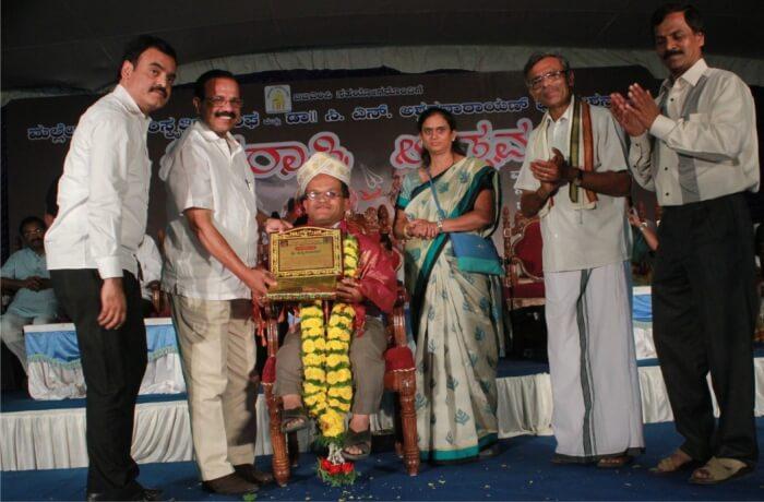 K.Y. Venkatesh Para Athlete honoured