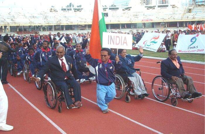 K y Venkatesh at the IWAS world games