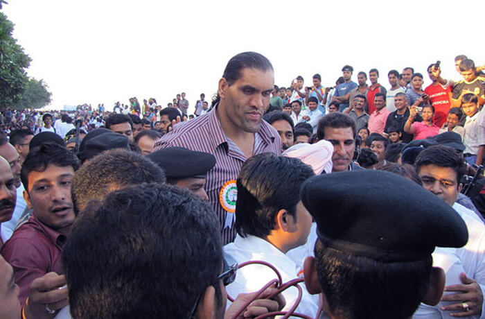 All time favourite wrestler: The Great Khali with fans