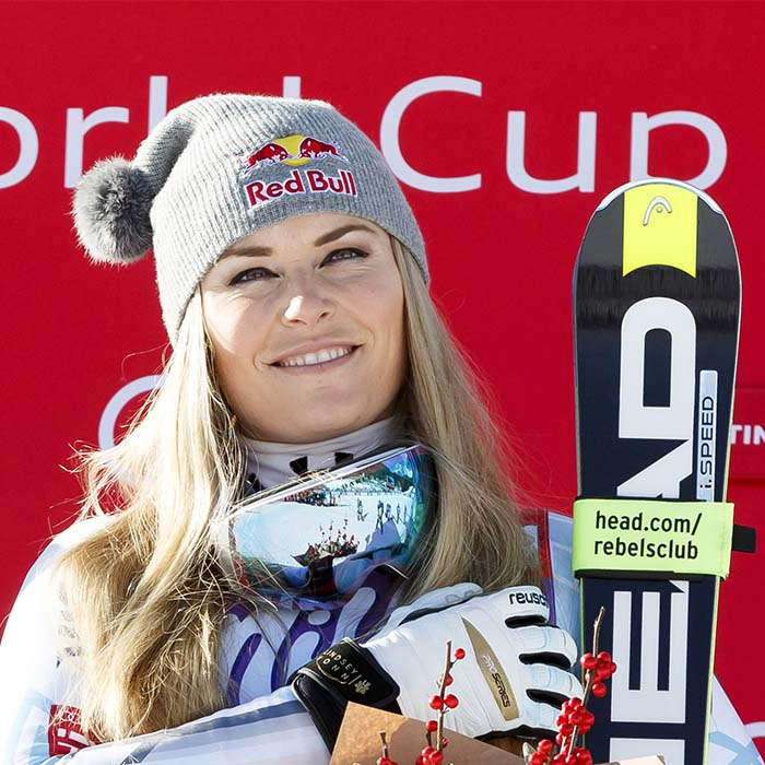 Lindsey Vonn won the Laureus Spirit of Sports award 2019 rare image