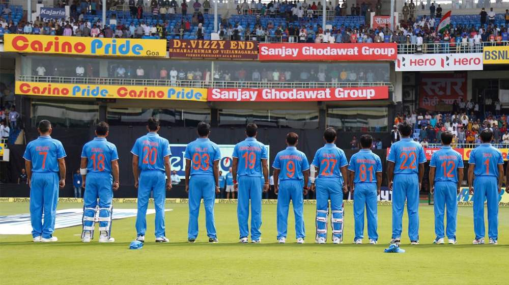 mother name jersey at the paytm odi trophy